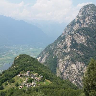 Val Codera, vista sul paesino di Codera
