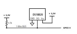 schema DS18B20